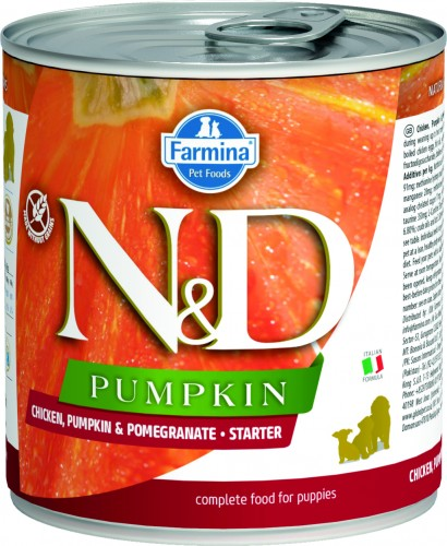 N&D Dog Pumpkin Wet Chicken & Pomegranate Starter Puppy