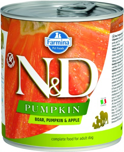 N&D Dog Pumpkin Wet Boar & Apple