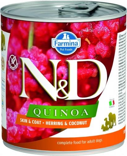 N&D Dog Quinoa Wet Herring & Coconut