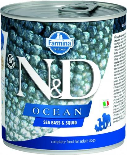 N&D Ocean Dog Wet Sea Bass & Squid