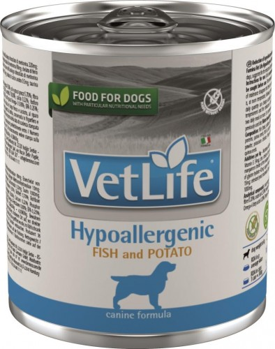 Vet Life Wet Dog Hypoallergenic Fish and Potato