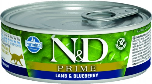 N&D Prime Cat Wet Lamb & Blueberry