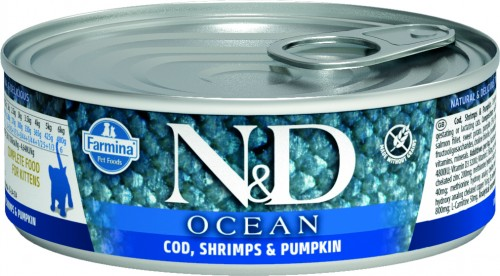 N&D Ocean Cat Wet Cod & Shrimps & Pumpkin Kitten